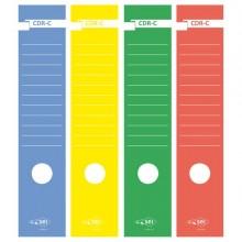25322 - Busta 10 Copridorso Cdr-C Carta Adesiva Giallo 7x34,5Cm Sei Rota -