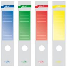 25325 - Busta 10 Copridorso Cdr-S Carta Adesiva Verde 7x34,5Cm Sei Rota -