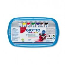 28146 - Box 7 Tubetti Tempera 12Ml Giotto Tubo 4 Assortito -
