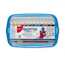 28147 - Box 12 Tubetti Tempera 12Ml Giotto Tubo 4 Assortito -