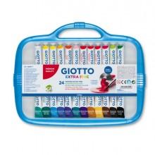 28149 - Box 24 Tubetti Tempera 12Ml Giotto Tubo 4 Assortito -