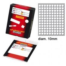 31063 - Etichetta Adesiva Bianca Tonda diam.10mm (10Fogli x 120Etichette) Markin -