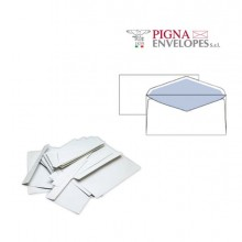 32070 - 25 Buste Bianche 110x230mm S/Finestra 70gr Leyla Pigna -