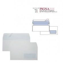 32075 - 25 Buste Bianche 110x230mm con Finestra 90gr Silver 90 Strip -