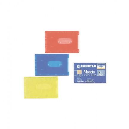 36284 - Busta Porta Cards 8,5X5,4 02/7828 Pvc Rigido Col.Assortiti Favorit 100500081 - CONF.100 -