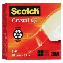 37041 - Nastro Adesivo Scotch Crystal Clear 600 33Mtx19mm -