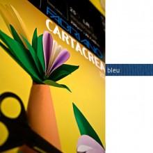 37236 - Blister 10fg Cartoncino 35x50Cm 220gr Blu Cartacrea Fabriano -