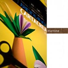 37238 - Blister 10fg Cartoncino 35x50Cm 220gr Marrone Cartacrea Fabriano -