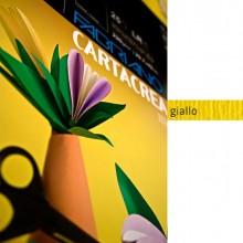 37239 - Blister 10fg Cartoncino 35x50Cm 220gr Giallo Cartacrea Fabriano -