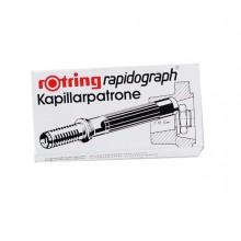 Scatola 3 Cartucce Capillari Rosso Per Penne Rapidograph