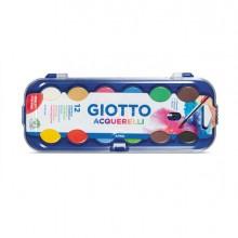 40479 - Colori Acquerello In 12 Colori Pastiglie Da diam.30mm Giotto -