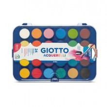 40480 - Colori Acquerello In 24 Colori Pastiglie Da diam.30mm Giotto -