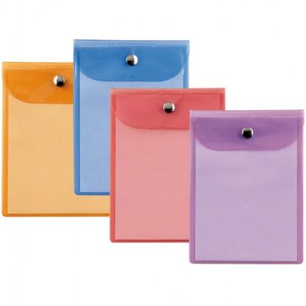 45781 - Busta Con Bottone Press 4 Color 12X15,5Cm - Assortite 42121599 - CONF.40 -