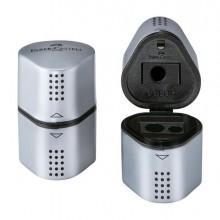 45825 - Temperamatite 3 Fori grip 2001 Silver con Doppio Serbatoio Faber Castell -