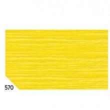 46549 - 10Rt Carta Crespa Giallo 570 (50x250Cm) gr.60 Sadoch -