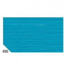 46559 - 10Rt Carta Crespa Turchese 650 (50x250Cm) gr.60 Sadoch -