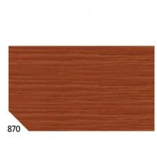 46564 - 10Rt Carta Crespa Marrone 870 (50x250Cm) gr.60 Sadoch -