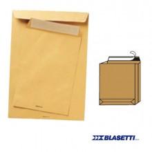 47478 - 250 Buste A Sacco Avana 250x353x40mm Soffietti+Fq con Strip Monodex -
