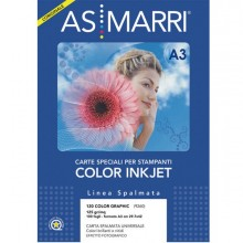 49782 - Carta Inkjet A3 125gr 100fg Color graphic Effetto Photo 9260 As Marri -