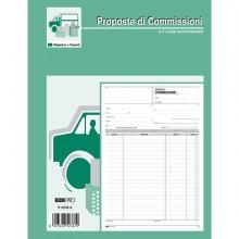 50265 - Blocco Copia Commissioni 29,7x21Cm 50fg 2 Copie Autoric. E5236A Edipro -