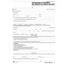 50287 - 100fg 29,7x21 Dichiarazione Conformita' Impianto Snap A 5 Copie Autoric E9071 -