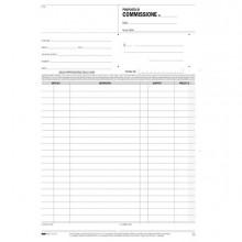 51911 - Blocco Copia Commissioni 29,7x21Cm 33fg 3 Copie Autoric. E5237A Edipro -