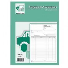 51912 - Blocco Copia Commissioni 29,7x21 100Fogli Uso Mano E5236 Edipro -