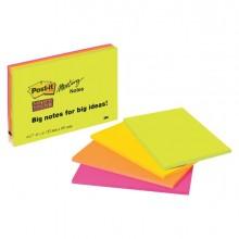 Blocco 45Foglietti Post-It Super Sticky 101X152Mm Meeting Note Neon 6445-4Ss 76028 - CONF.4