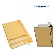 53692 - 10 Buste A Sacco Avana 190x260x40mm Con Soffietti E Strip Monodex -
