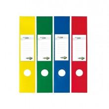 53905 - Busta 10 Copridorso Cdr Pvc Adesivi Giallo 7x34,5Cm Sei Rota -