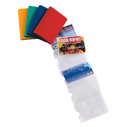 53986 - 5 Buste Porta Card 10 Color A 10 Tasche 5,8x8,7Cm Assort. -