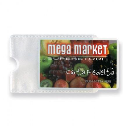 53987 - 5 Buste Porta Card 1P Trasp. 1 Tasca 5,8x8,7Cm -