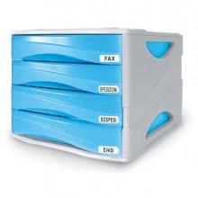 53989 - Cassettiera 4 Cass. Smile Azzurro Trasp. Arda -