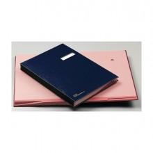 56603 - Libro Firma con Portaetichetta 18 Pagine 24x34Cm Blu 618-D Fraschini -