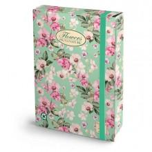 Cartella progetti con elastico 24x34cm dorso 7cm Pigna Nature Flowers - CONF.3