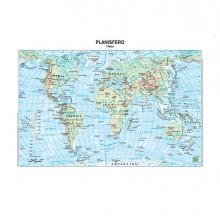 56943 - Carta Geografica Scolastica Plastificata Mondo 297X420Mm Belletti BS02P - CONF.20 -