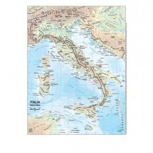 56945 - Carta Geografica Scolastica Plastificata Italia 297X420Mm Belletti BS01P - CONF.20 -
