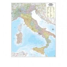 57413 - Carta Geografica Murale Italia 97x122Cm Belletti -