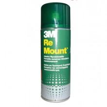 57795 - Adesivo Spray 3M Re-Mount Rimovibile - Trasparente 400Ml -