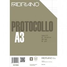 58725 - Protocollo A4 1Rigo con Margine 200fg 60gr Fabriano -