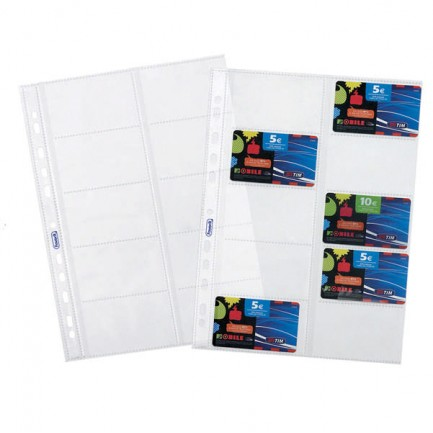 58957 - 10 Buste Forate Porta Cards 21,5x29,7Cm Favorit -