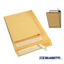 59138 - 250 Buste Sacco Avana 120gr 250x353x40mm con Soffietti Strip Monodex -