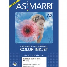 59236 - Carta Inkjet A3 120gr 50fg Duo Color graphic Patinata Double-Face 8238 Marri -