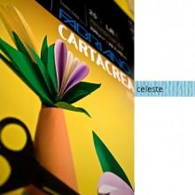 59686 - Blister 10fg Cartoncino 35x50Cm 220gr Celeste Cartacrea Fabriano -
