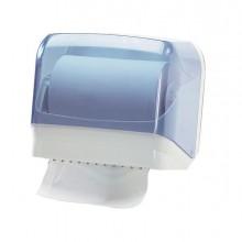 61088 - Dispenser Asciugamani In Rotolo/ Fogli Trasparente/Bianco Mar Plast -