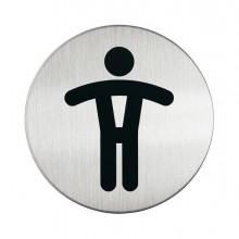 61377 - Pittogramma diam. 8,3Cm 'Toilette Uomo' In Acciaio -