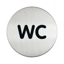 61379 - Pittogramma diam. 8,3Cm 'Wc' In Acciaio -