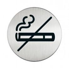 61381 - Pittogramma diam. 8,3Cm 'Zona Non Fumatori' In Acciaio -