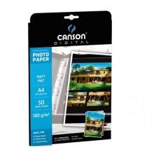 61662 - Carta Inkjet A4 180gr 50fg Photo Matt Performance Canson -