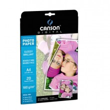 61663 - Carta Inkjet A4 180gr 20fg Photo Glossy Fronte/Retro Performance Canson -